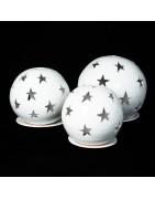 Deko-Windlichter Kugeln und Leuchte im orientalischen Stil aus Ton