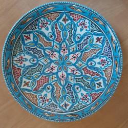 Pizza Teller Blau